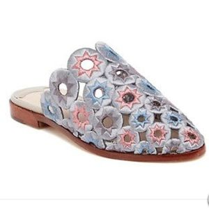 Ashley Cole Mia Embroidered Star Slip-On Sandals